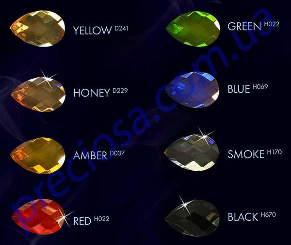 Возможные цвета хрустальных подвесок для люстр ALDIT