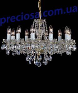 Люстра рожковая хрустальная Preciosa AU 3206/01/010 (12 3206 010 07 01 01 40) Plavy