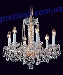 Люстра рожковая хрустальная Preciosa AU 3206/00/006 (12 3206 006 07 01 00 40) Plavy