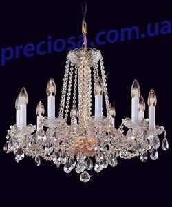 Люстра рожковая хрустальная Preciosa AU 3206/00/010 (12 3206 010 07 01 00 40) Plavy