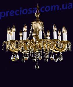 Люстра литая рожковая Preciosa AN 3302/00/012 (16 3302 012 80 00 00 40)