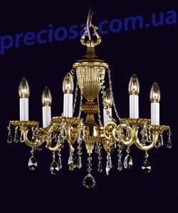 Люстра литая рожковая Preciosa AN 3302/00/006 (16 3302 006 80 00 00 40)