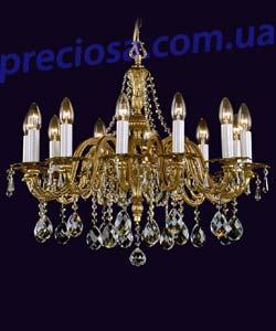 Люстра литая рожковая Preciosa AN 3301/00/012 (16 3301 012 80 00 00 40) Penela