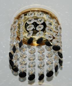 Кольцо с хрусталем Preciosa для точечного светильника 4(прозрачный) + окончание(черный) (99 0501)