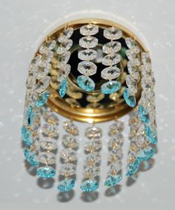 Кольцо с хрусталем Preciosa для точечного светильника 4(прозрачный) + окончание(небесный) (99 0503)