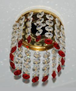 Кольцо с хрусталем Preciosa для точечного светильника 4(прозрачный) + окончание(красный) (99 0504)