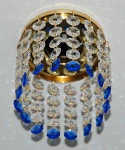 Кольцо с хрусталем Preciosa для точечного светильника 4(прозрачный) + окончание(синий) (99 0505)