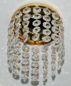 Кольцо с хрусталем Preciosa для точечного светильника 4(прозрачный) + окончание(прозрачный) (99 0500)