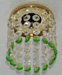 Кольцо с хрусталем Preciosa для точечного светильника 4(прозрачный) + окончание(весенняя зелень) (99 0506)