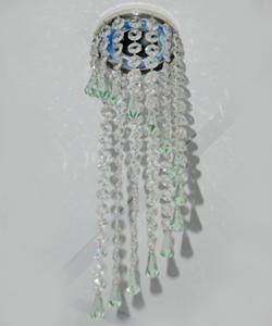 Кольцо с хрусталем Preciosa для точечного светильника спираль (прозрачный) + drop (морская волна) (99 9907)