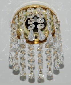 Кольцо с хрусталем Preciosa для точечного светильника 4(прозрачный) + drop (прозрачный) (99 1500)