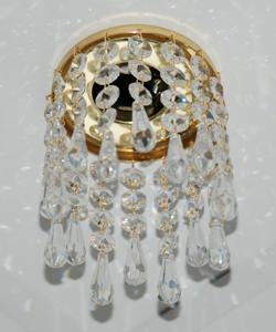 Кольцо с хрусталем Preciosa для точечного светильника волна 4-3(прозрачный) + drop (прозрачный) (99 5500)