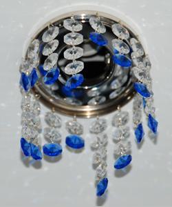 Кольцо с хрусталем Preciosa для точечного светильника волна 4-3-2-1 (прозрачный) + окончание(синий) (99 4505)