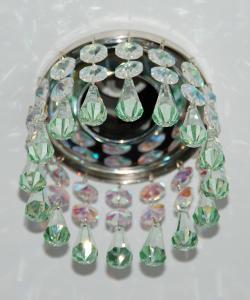 Кольцо с хрусталем Preciosa для точечного светильника 2(напыление) + drop (морская волна) (99 1377)