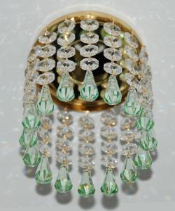 Кольцо с хрусталем Preciosa для точечного светильника 4(прозрачный) + drop(морская волна) (99 1507)