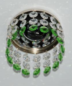 Кольцо с хрусталем Preciosa для точечного светильника 2(прозрачный) + окончание(весенняя зелень) (99 0306)