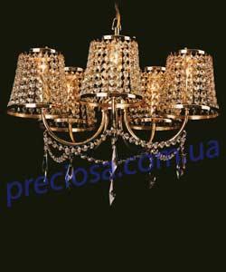 Люстра рожковая хрустальная Preciosa AB 0422/05/005 (15 0422 005 07 00 04 35)