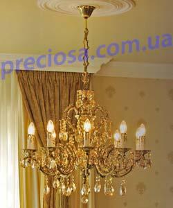 Люстра рожковая литая ALDIT Baron C10 (LL 13/05/496) almond 505h