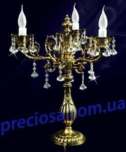 Настольная лампа-канделябр рожковая литая ALDIT Amfora S3 (LL 10/07/066) pyramida