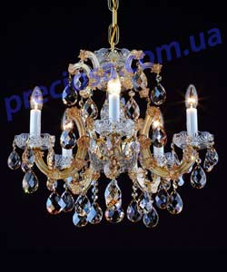 Люстра рожковая хрустальная Preciosa AM 5235/03/005 (14 5235 005 90 11 00 70) Roi