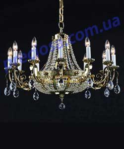 Люстра рожковая литая Preciosa AL 5502/00/015 (46 5502 015 85 00 00 35) Lugos
