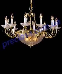 Люстра рожковая литая Preciosa AL 5502/01/015 (46 5502 015 85 25 01 00) Lugos