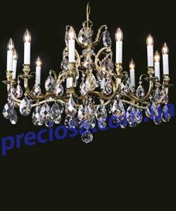 Люстра рожковая литая Preciosa AL 5154/00/012 (16 5141 012 85 01 00 35) Bacchus