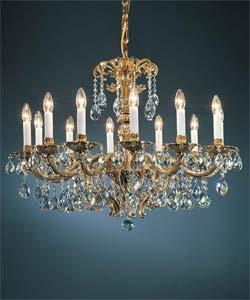 Люстра литая рожковая Preciosa AR 5787/01/012 (16 5787 012 85 00 00 28) Wawel