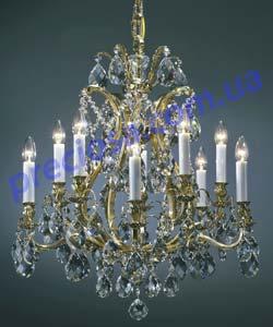 Люстра рожковая литая Preciosa AL 5154/00/010 (16 5154 010 85 01 00 02) Bacchus