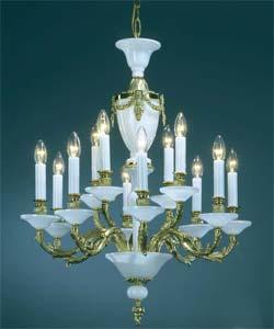 Люстра рожковая литая Preciosa AR 5233/00/012 (16 5233 012 85 32 00 00) Louvre