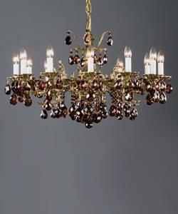 Бронзовая люстра рожковая литая Preciosa AR 5791/02/012 (16 5791 012 85 00 04 70) Mdina